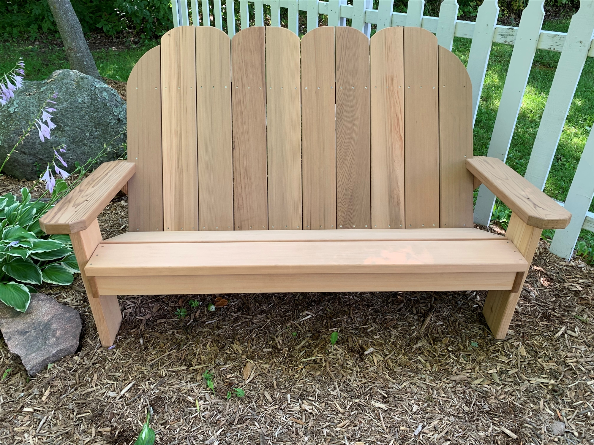 Handcrafted Adirondack Style Slanted Bench Love Seat For Two