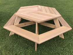 "Hexagon Picnic Table 56"" Top"
