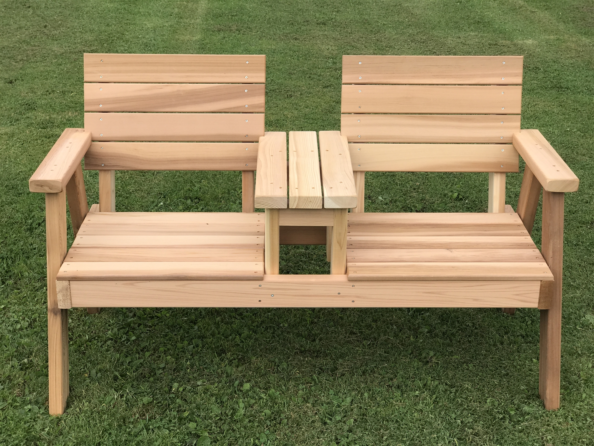 Joined Flat Seat Handcrafted Hillsfield Tete E Tete Bench