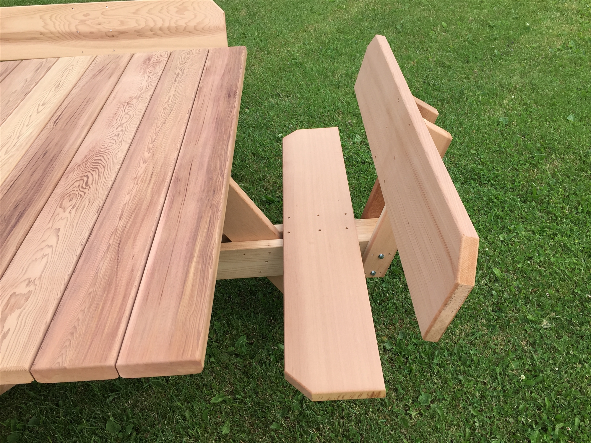 56 Quot Western Red Cedar Picnic Table With Attached Backs