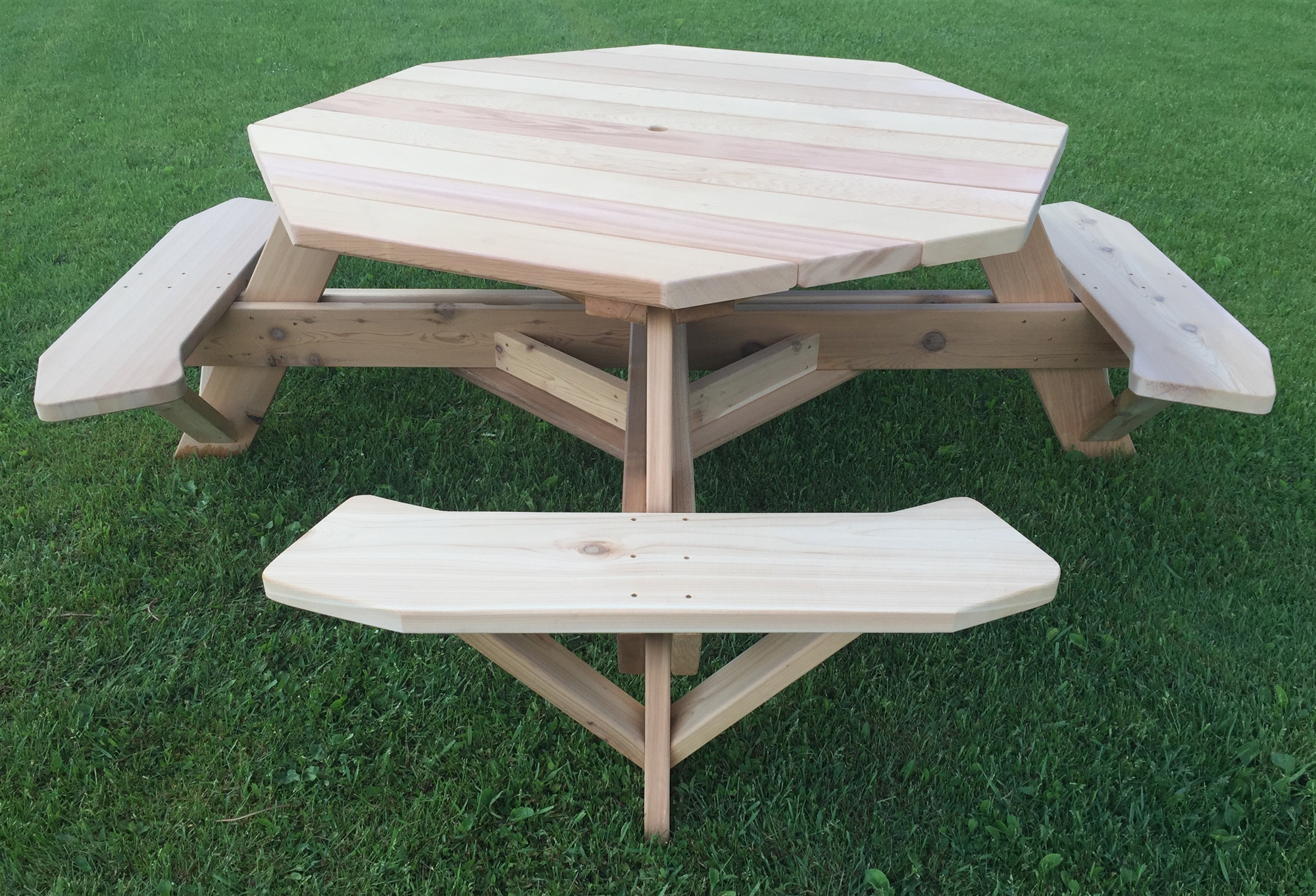 "Large 8 Sided Picnic Table | 61"" Octagon Table for Patios"