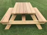 7' Master Picnic Table with Seats