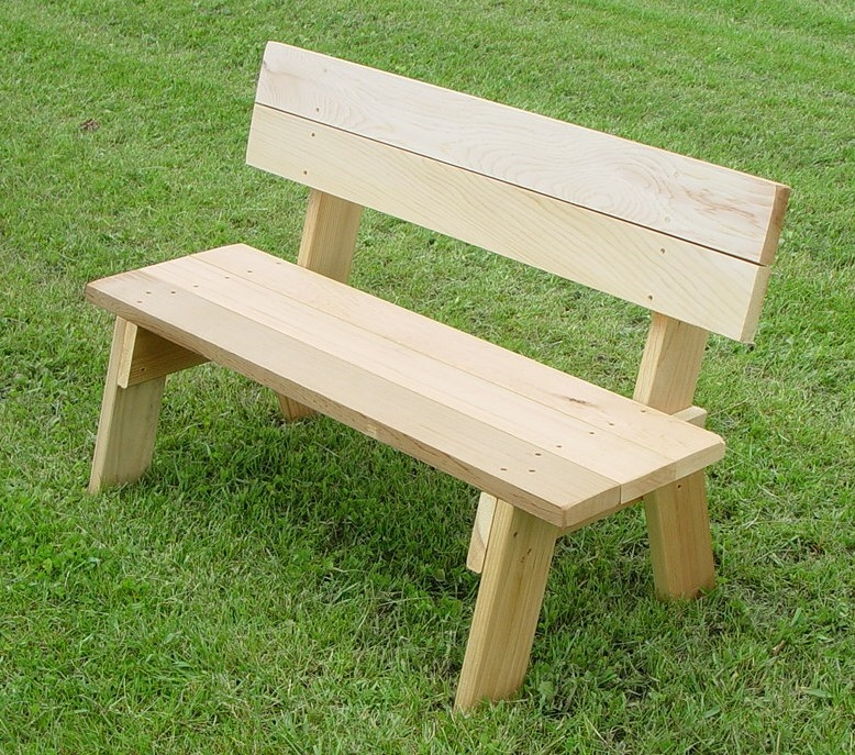 Small 36 Quot Handcrafted Red Cedar Bench Park For Children