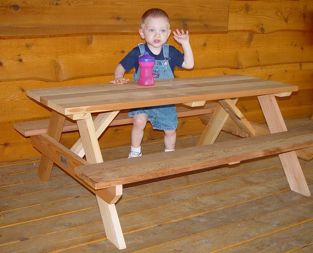 48 Quot Kids Picnic Table Easy To Move Seats 6 Children 48