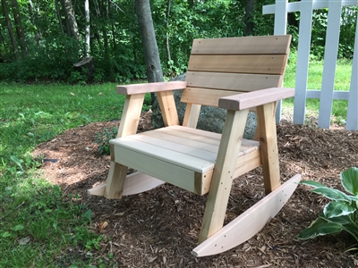 Chairs and benches built of western red cedar, all screw construction.