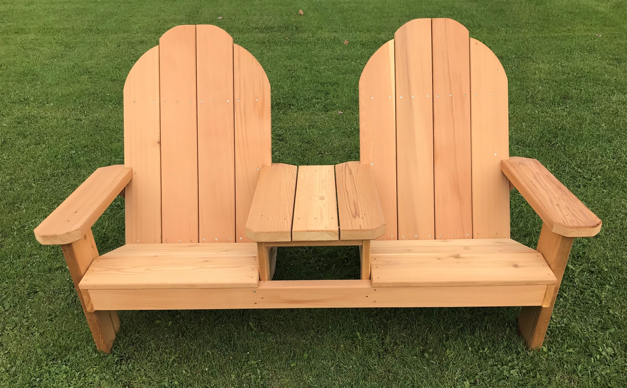 Two Person Slanted Seating Tete E Tete Adirondack Bench