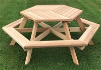 "Hexagon Picnic Table 44"" Top"