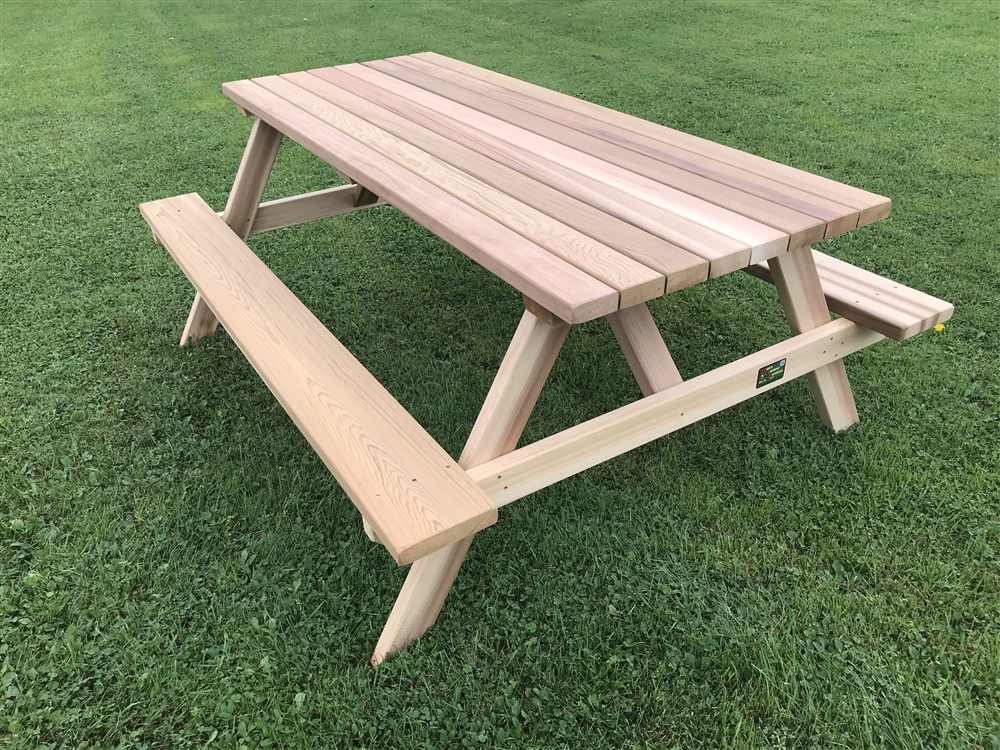 6' Deluxe Picnic Table with Seats