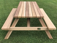 7' Deluxe Picnic Table with Seats