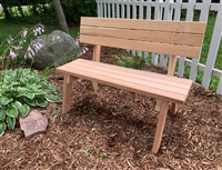 "48"" Hillsfield bench with Back"
