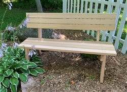 "60"" Hillsfield bench with Back"