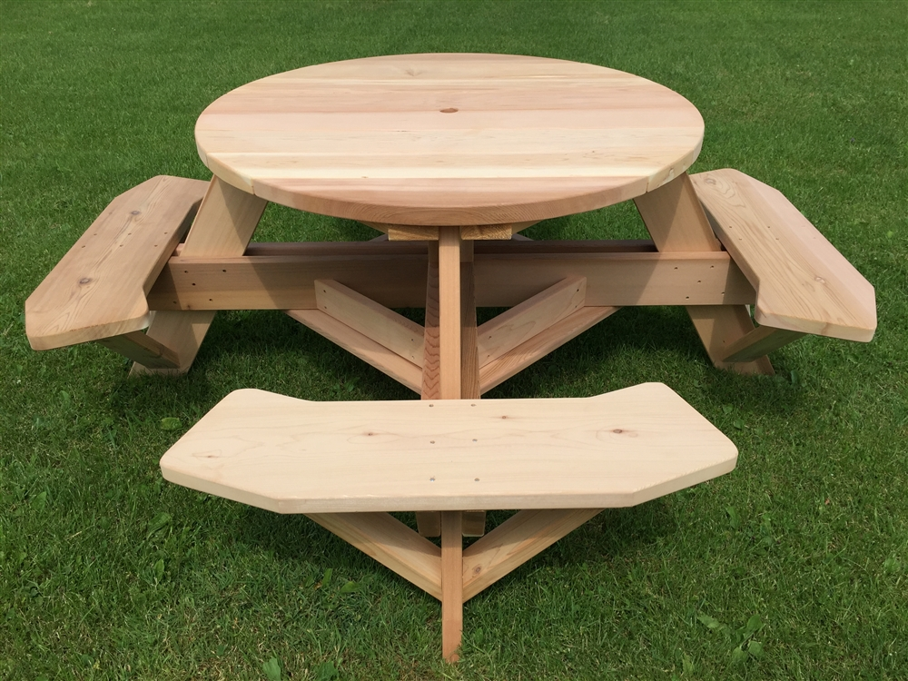 "Round Picnic Table 45"" Top"