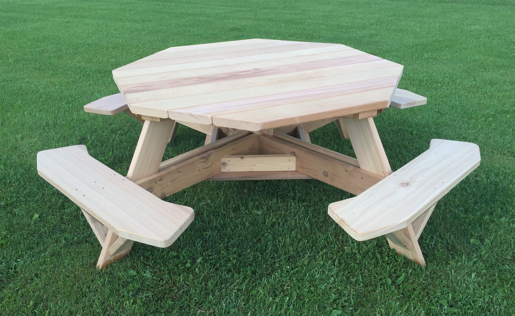 Large 8 Sided Picnic Table 61 Quot Octagon Table For Patios