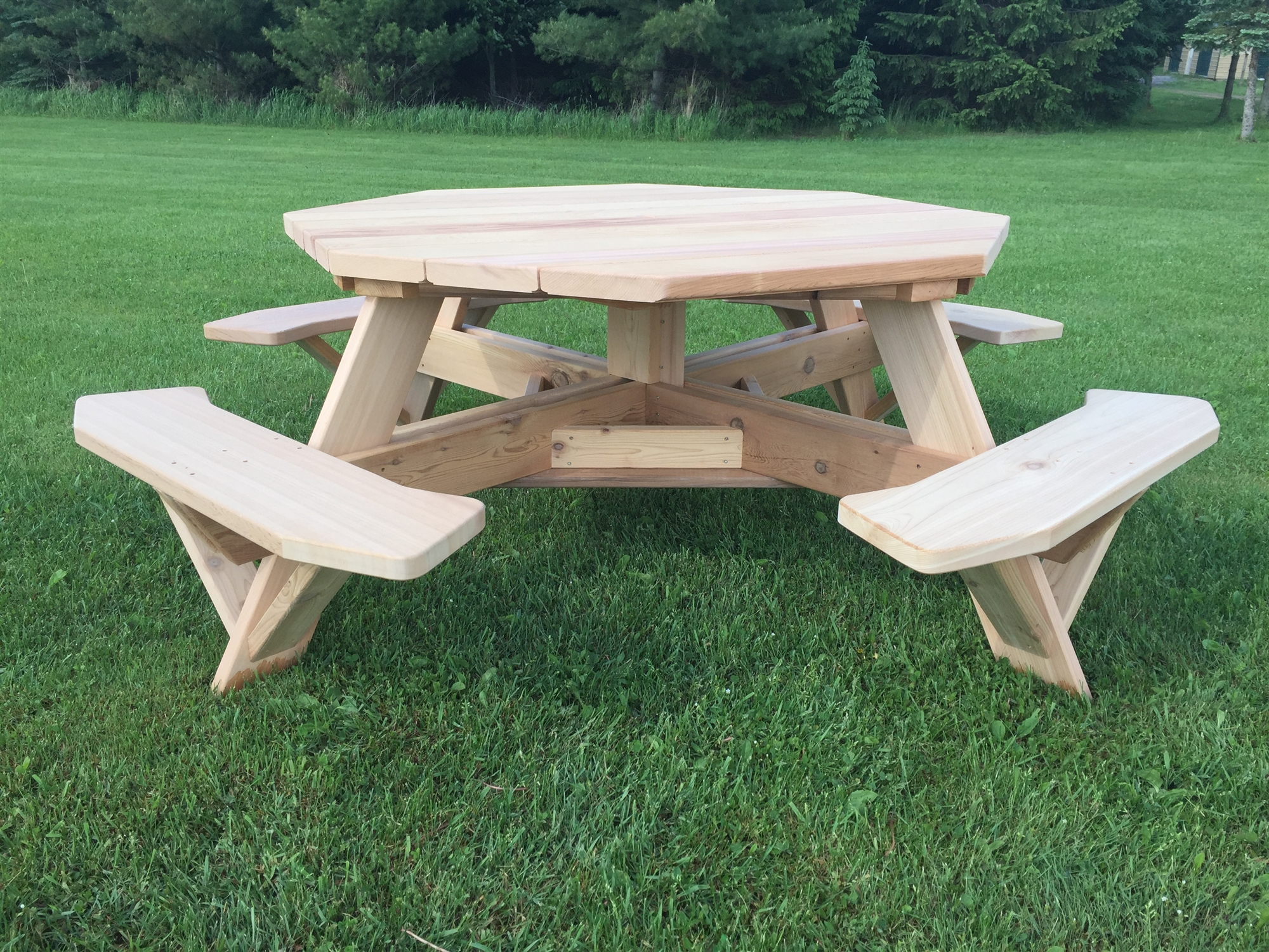 Awesome 61 Octagon Picnic Table With Easy Seating Gamerscity Chair Design For Home Gamerscityorg