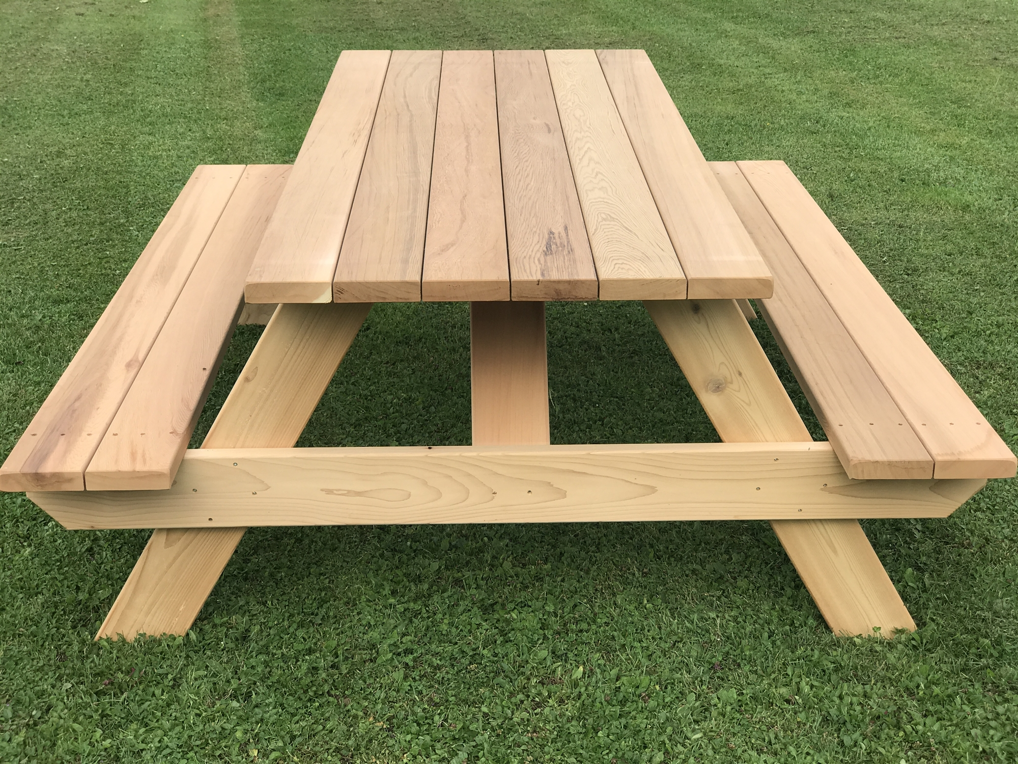 7 Heavy Duty Wooden Picnic Table For