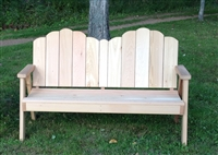 Ozark Love Seat built of Western Red Cedar all screw construction.