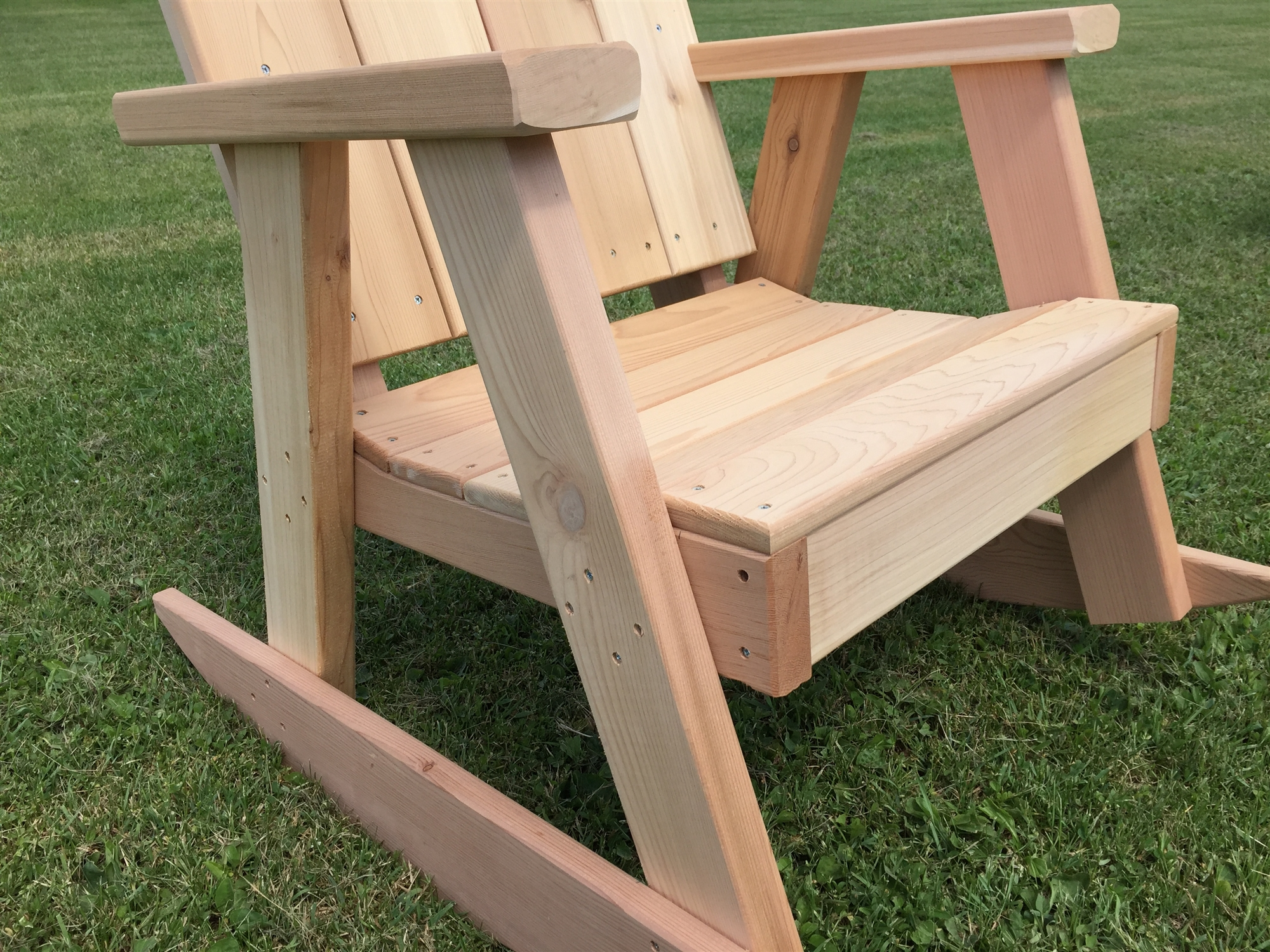 Large comfortable adirondack style ozark rocking chair for A p furniture trail