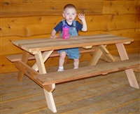 "48"" Children's Picnic Table with Seats"