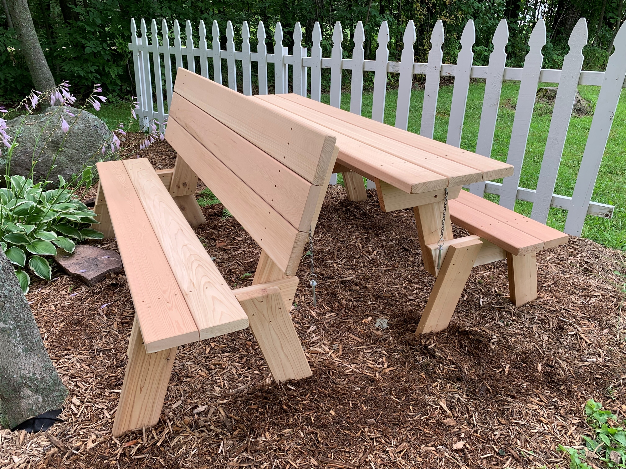 large 72 combination folding picnic table park bench. Black Bedroom Furniture Sets. Home Design Ideas
