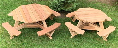 Large Outdoor Picnic Tables Octagon Picnic Tables - Large outdoor picnic table